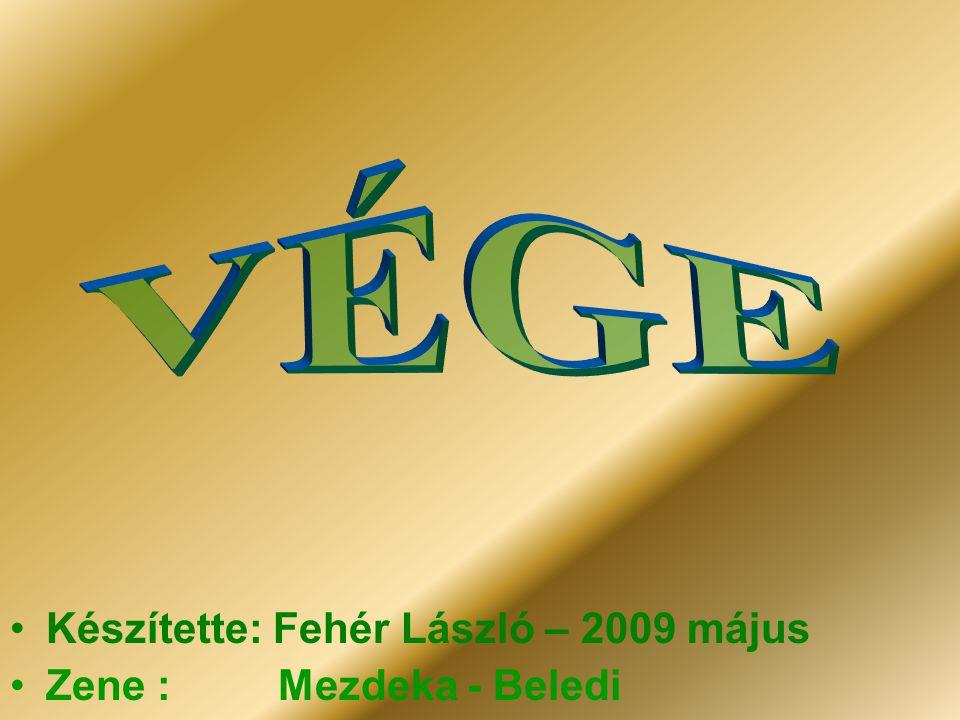 VÉGE Készítette: Fehér László – 2009 május Zene : Mezdeka - Beledi