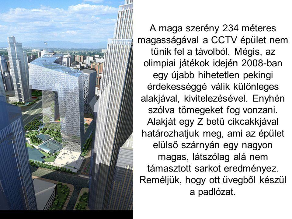 A maga szerény 234 méteres magasságával a CCTV épület nem tűnik fel a távolból.