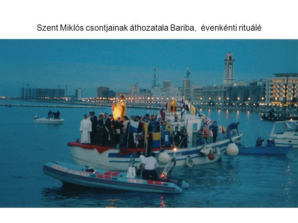 Szent Miklós csontjainak áthozatala Bariba, évenkénti rituálé