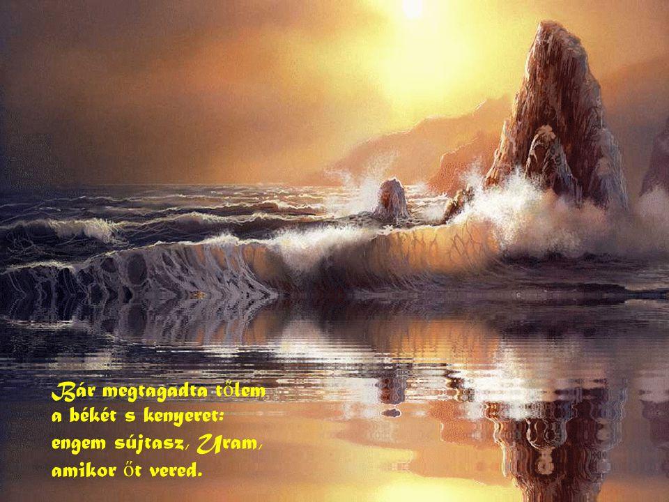 Bár megtagadta tőlem a békét s kenyeret: engem sújtasz, Uram, amikor őt vered.