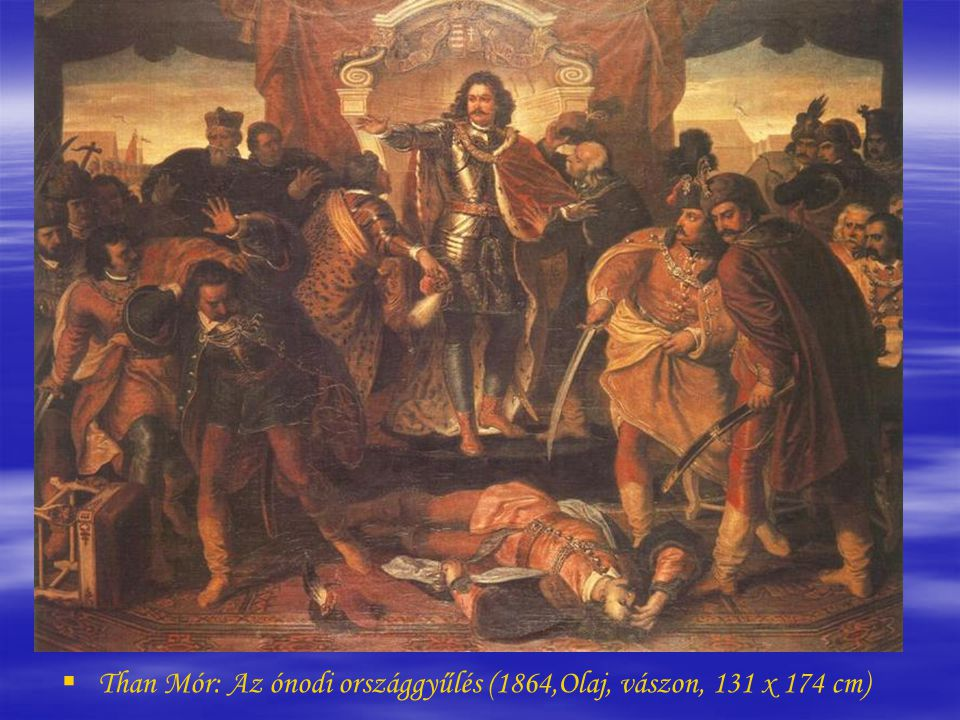 Than Mór: Az ónodi országgyűlés (1864,Olaj, vászon, 131 x 174 cm)