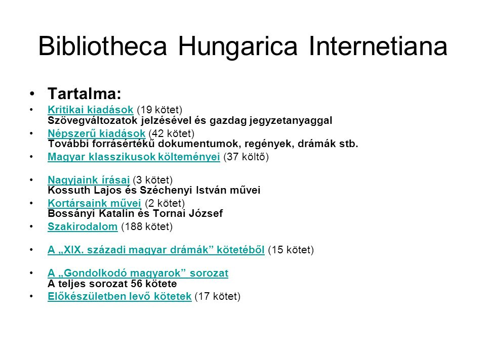 Bibliotheca Hungarica Internetiana