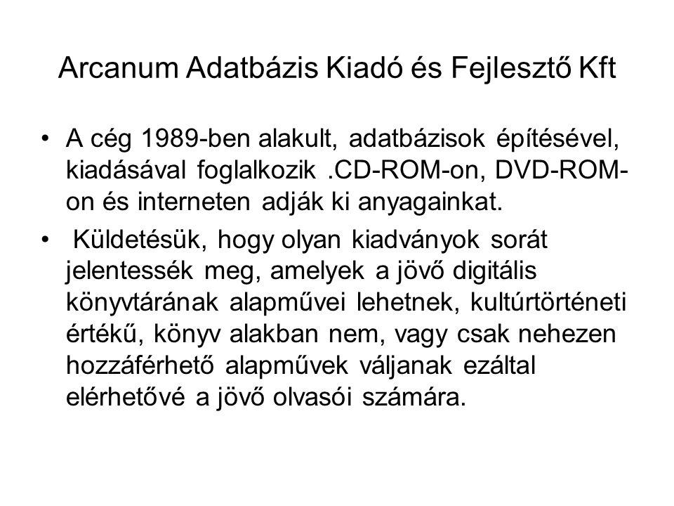 Arcanum Adatbázis Kiadó és Fejlesztő Kft