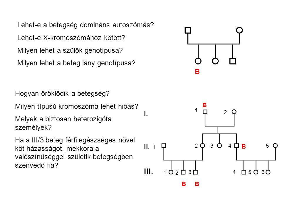 III. 1 Lehet-e a betegség domináns autoszómás