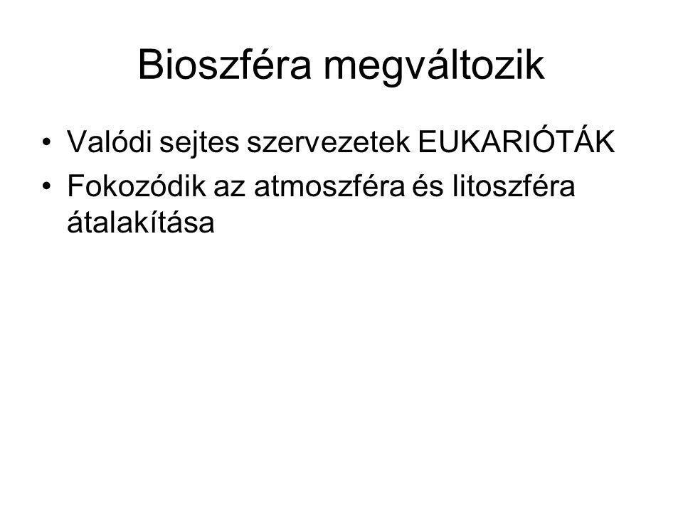 Bioszféra megváltozik