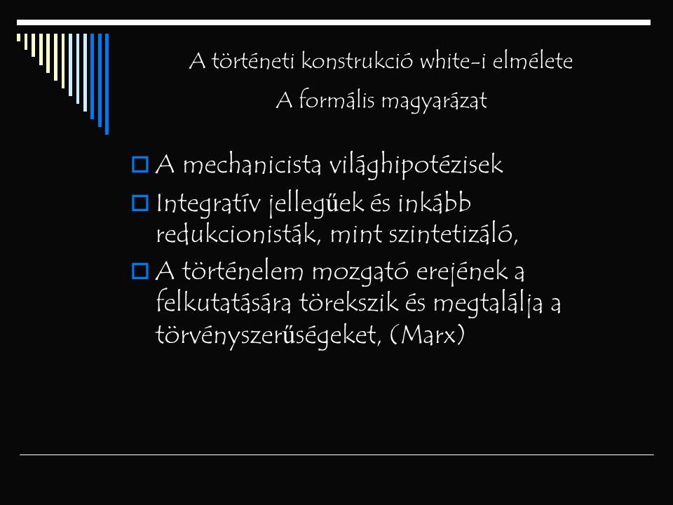 A történeti konstrukció white-i elmélete A formális magyarázat