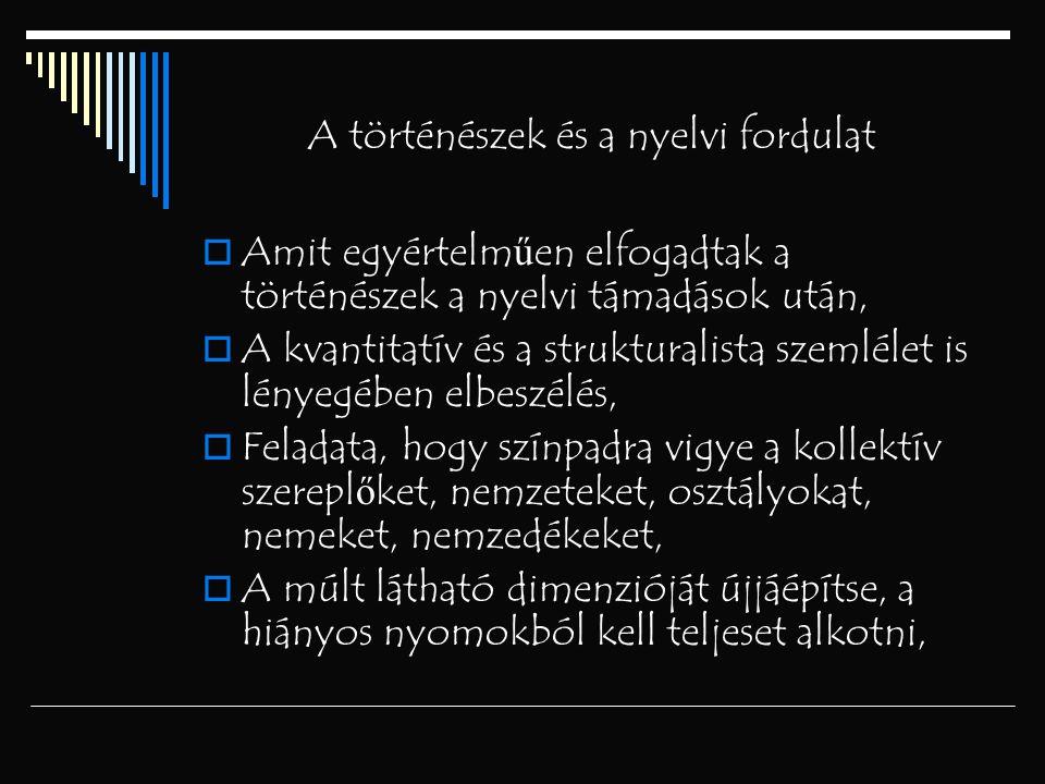 A történészek és a nyelvi fordulat