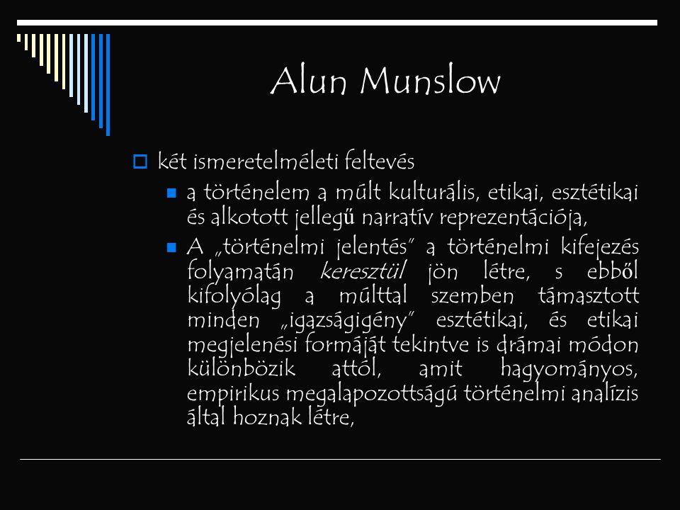 Alun Munslow két ismeretelméleti feltevés