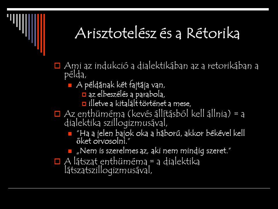 Arisztotelész és a Rétorika