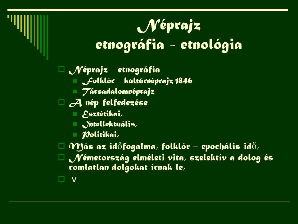 Néprajz etnográfia - etnológia