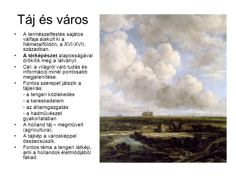 Táj és város A természetfestés sajátos válfaja alakult ki a Németalföldön, a XVI-XVII. században.
