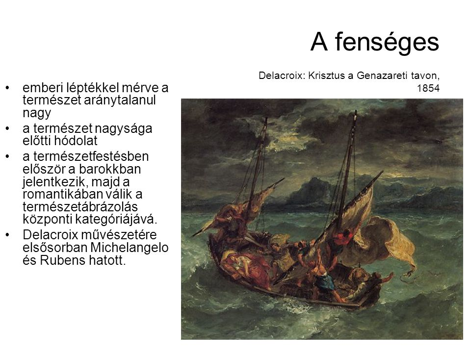 A fenséges Delacroix: Krisztus a Genazareti tavon, 1854