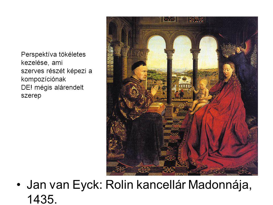Jan van Eyck: Rolin kancellár Madonnája, 1435.
