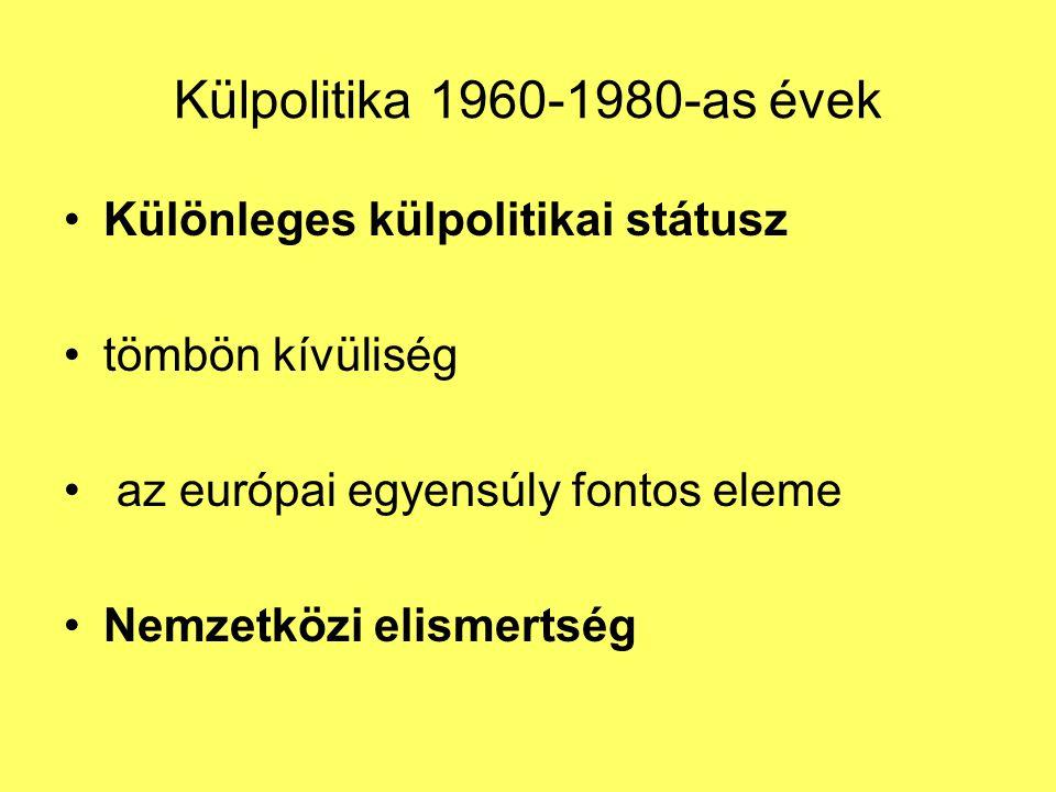 Külpolitika 1960-1980-as évek Különleges külpolitikai státusz