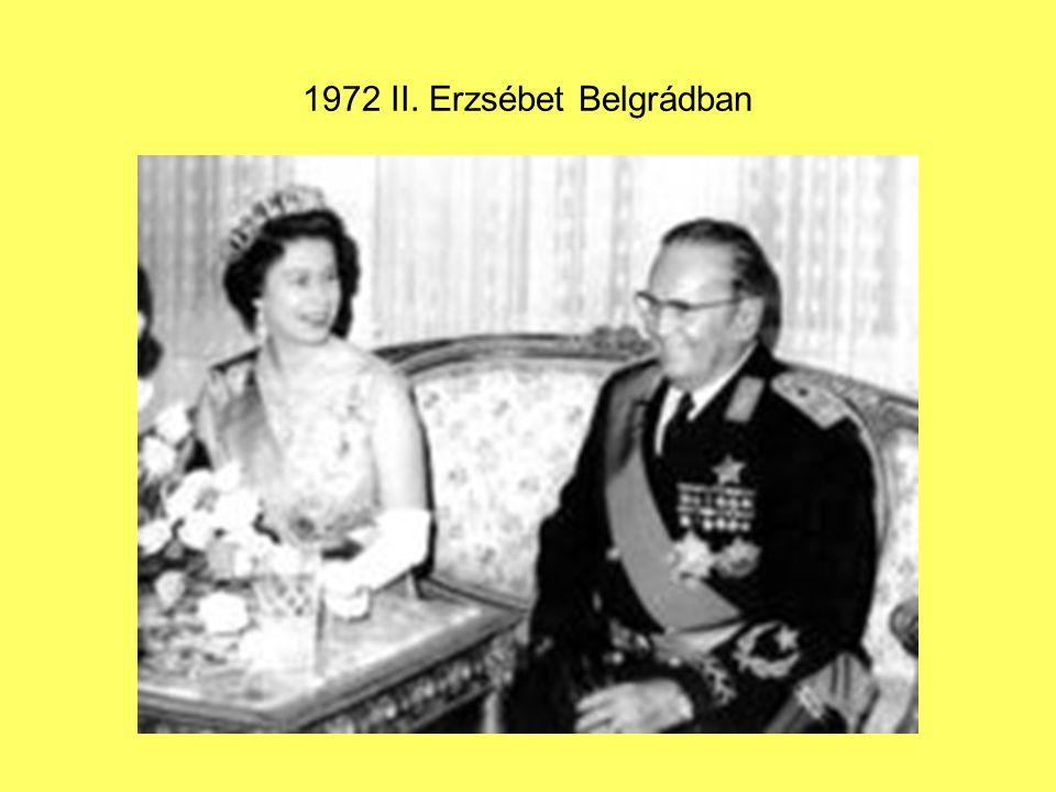 1972 II. Erzsébet Belgrádban