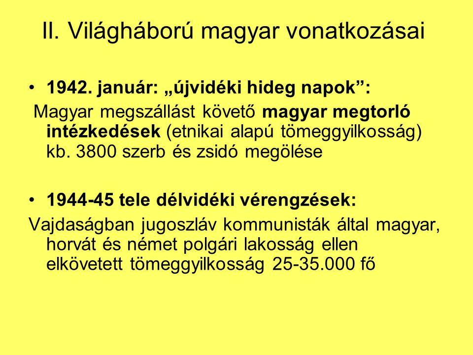II. Világháború magyar vonatkozásai