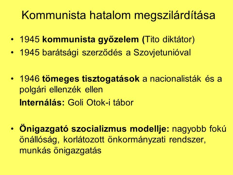 Kommunista hatalom megszilárdítása
