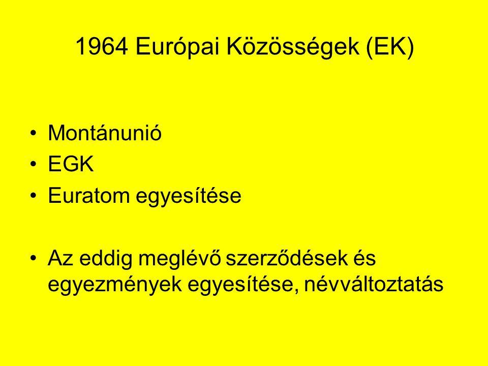 1964 Európai Közösségek (EK)