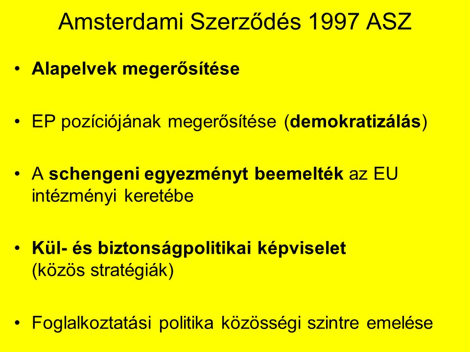 Amsterdami Szerződés 1997 ASZ
