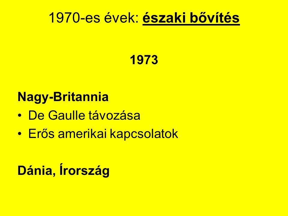 1970-es évek: északi bővítés