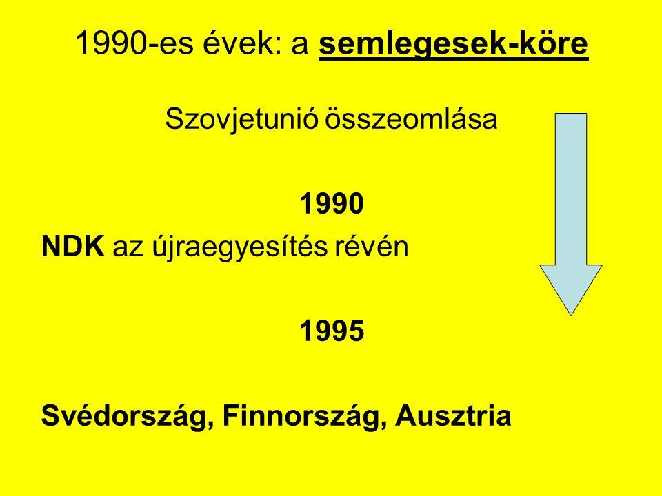 1990-es évek: a semlegesek-köre