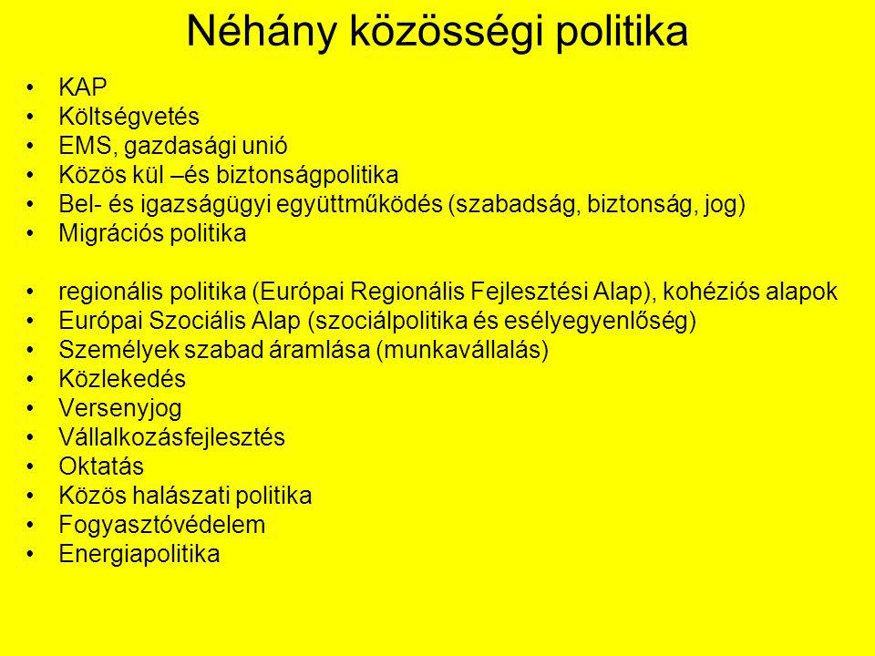 Néhány közösségi politika