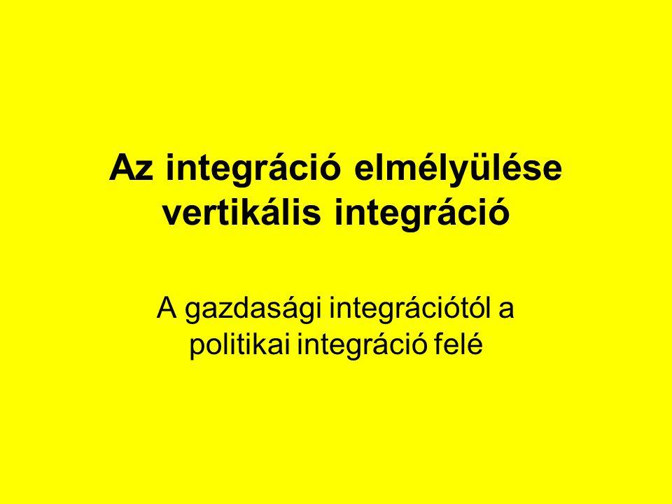 Az integráció elmélyülése vertikális integráció