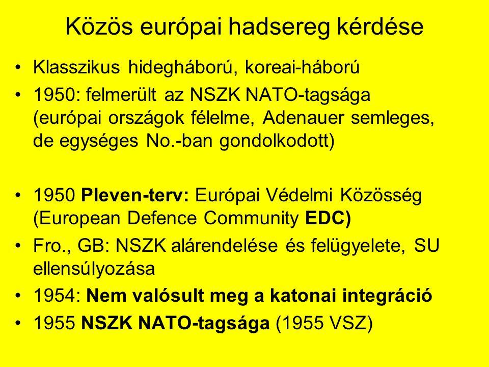 Közös európai hadsereg kérdése