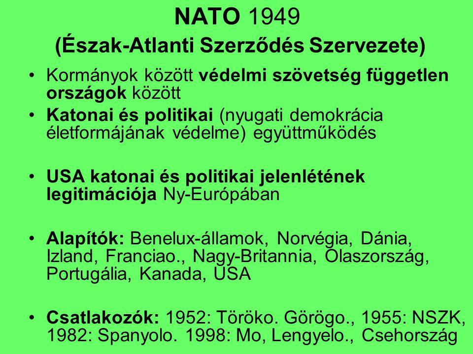 NATO 1949 (Észak-Atlanti Szerződés Szervezete)