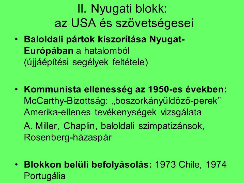 II. Nyugati blokk: az USA és szövetségesei