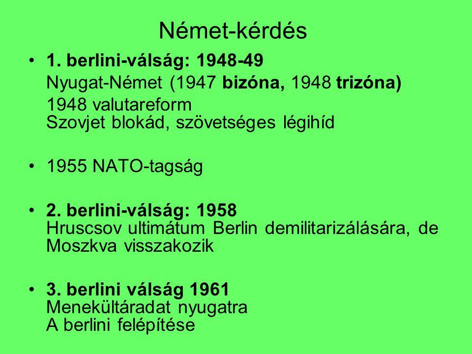 Német-kérdés 1. berlini-válság: 1948-49