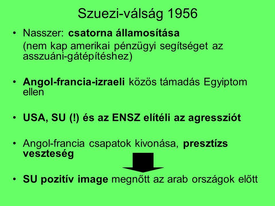 Szuezi-válság 1956 Nasszer: csatorna államosítása