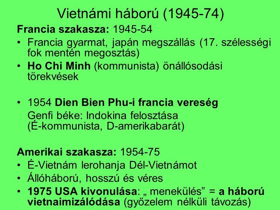 Vietnámi háború (1945-74) Francia szakasza: 1945-54