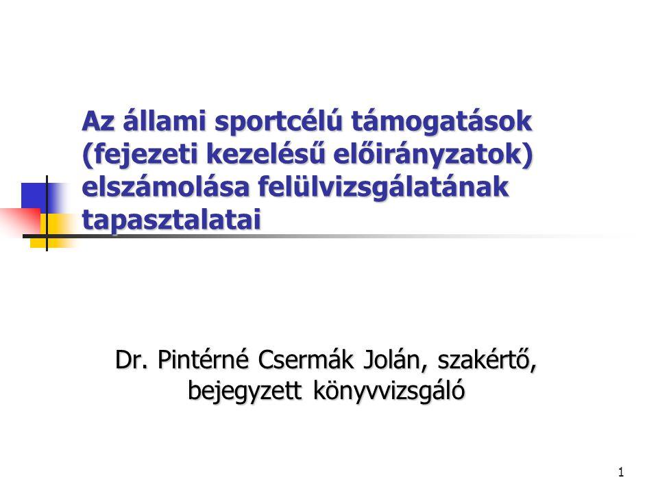 Dr. Pintérné Csermák Jolán, szakértő, bejegyzett könyvvizsgáló