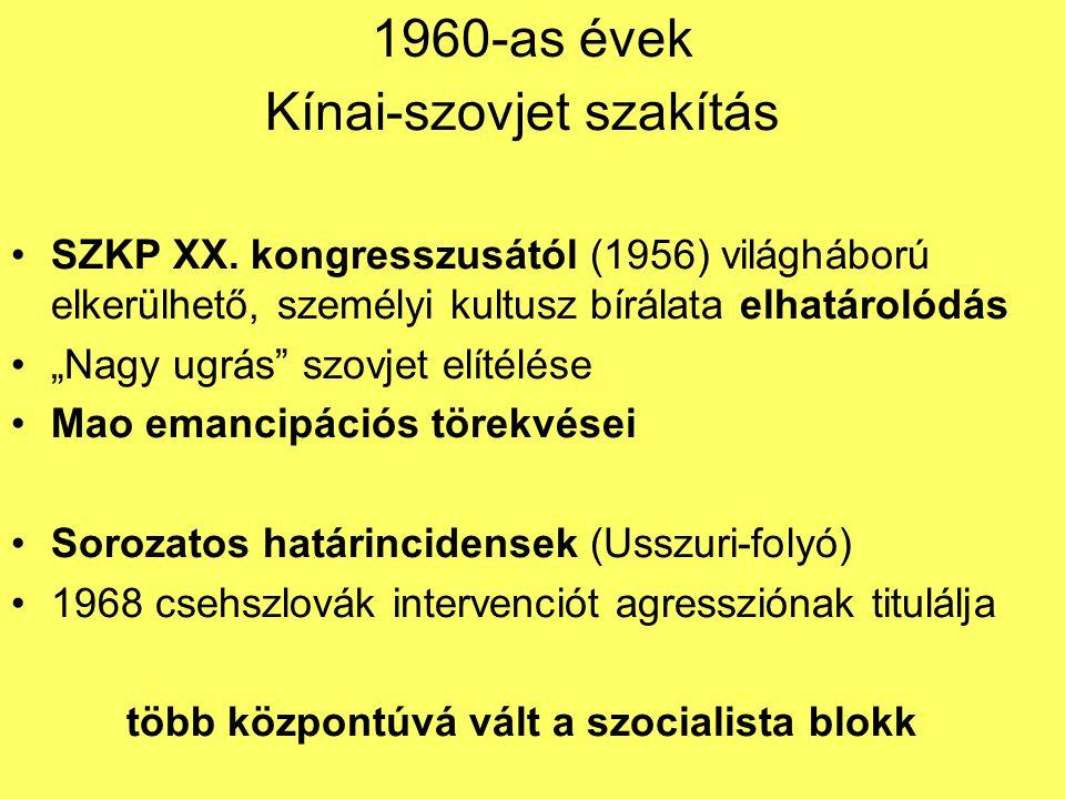 több központúvá vált a szocialista blokk