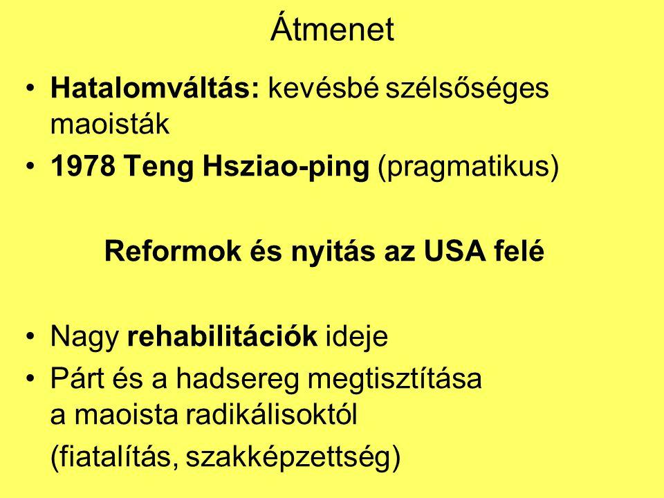 Reformok és nyitás az USA felé