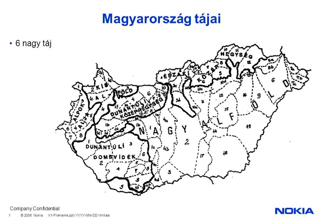Magyarország tájai 6 nagy táj