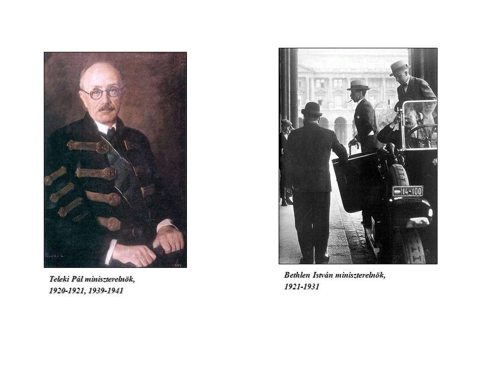 Bethlen István miniszterelnök,