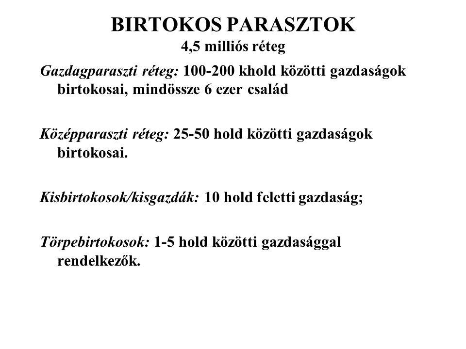 BIRTOKOS PARASZTOK 4,5 milliós réteg