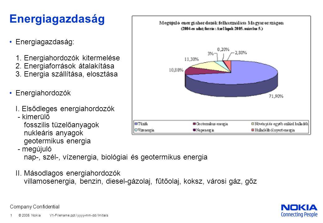 Energiagazdaság Energiagazdaság: 1. Energiahordozók kitermelése 2. Energiaforrások átalakítása 3. Energia szállítása, elosztása.