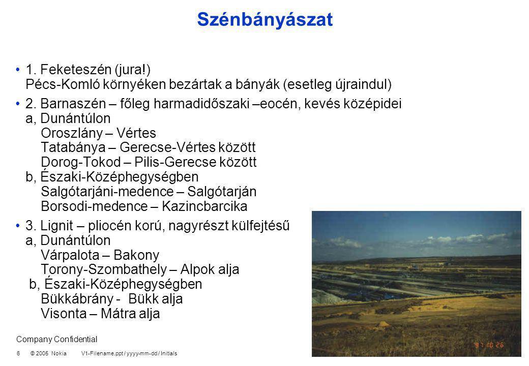 Szénbányászat 1. Feketeszén (jura!) Pécs-Komló környéken bezártak a bányák (esetleg újraindul)