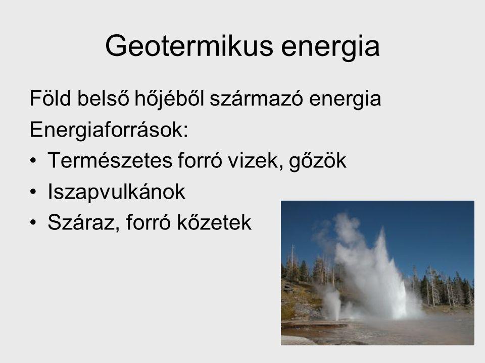 Geotermikus energia Föld belső hőjéből származó energia