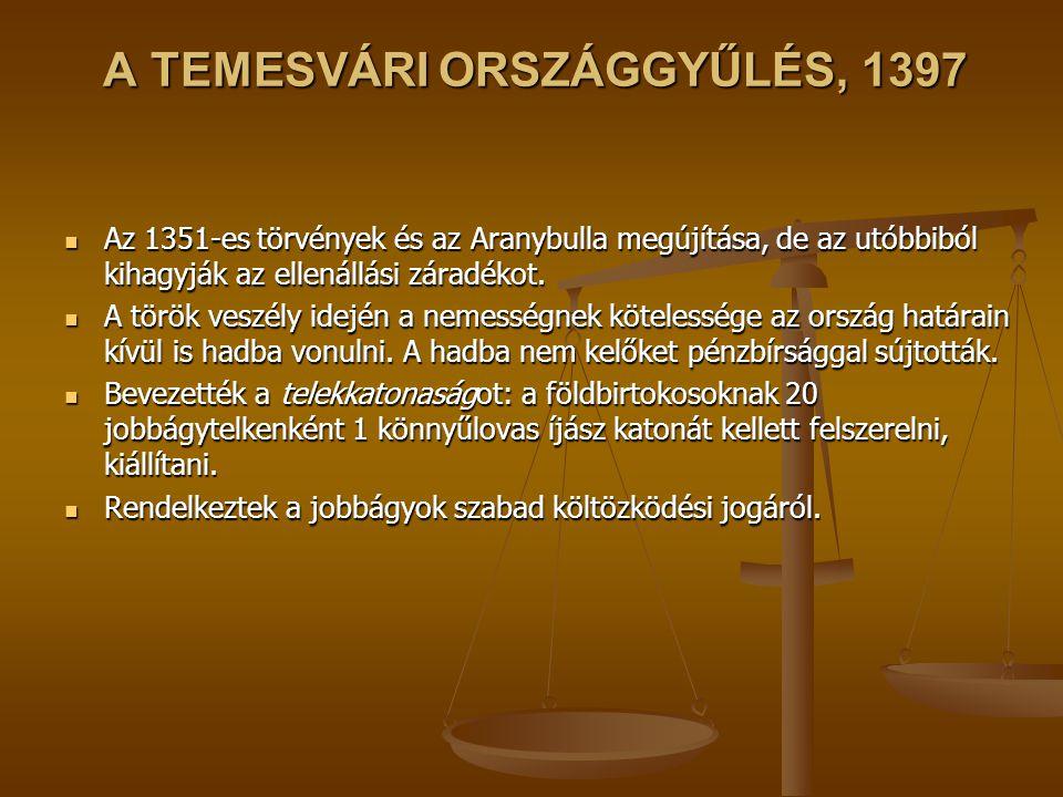 A TEMESVÁRI ORSZÁGGYŰLÉS, 1397
