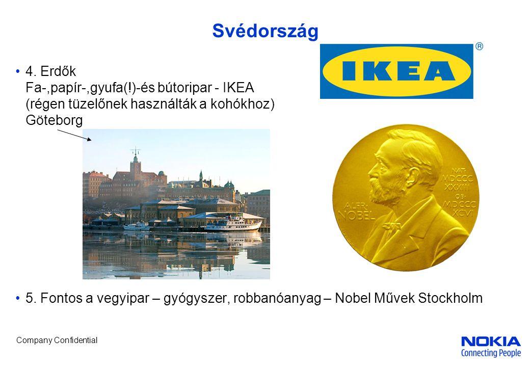 Svédország 4. Erdők Fa-,papír-,gyufa(!)-és bútoripar - IKEA (régen tüzelőnek használták a kohókhoz) Göteborg.