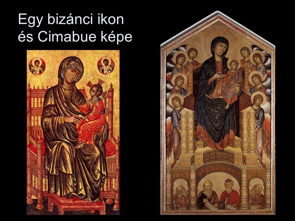 Egy bizánci ikon és Cimabue képe