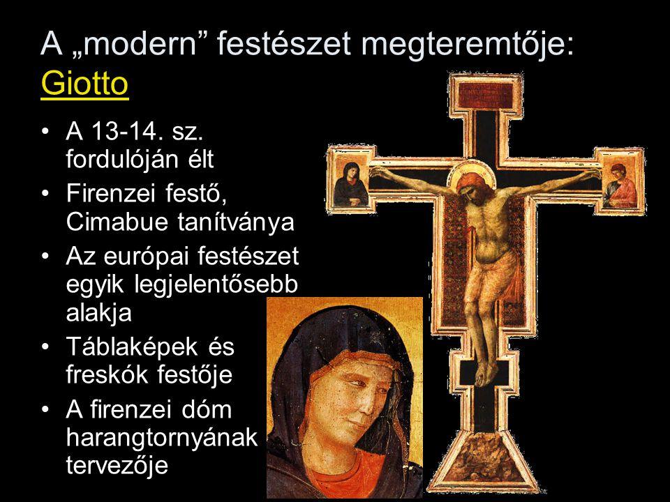 """A """"modern festészet megteremtője: Giotto"""