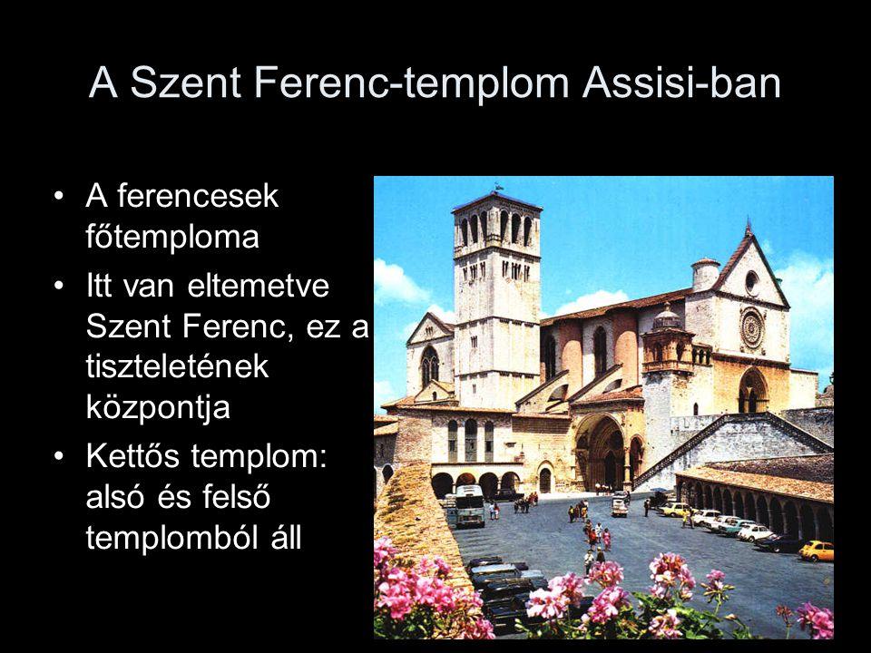 A Szent Ferenc-templom Assisi-ban