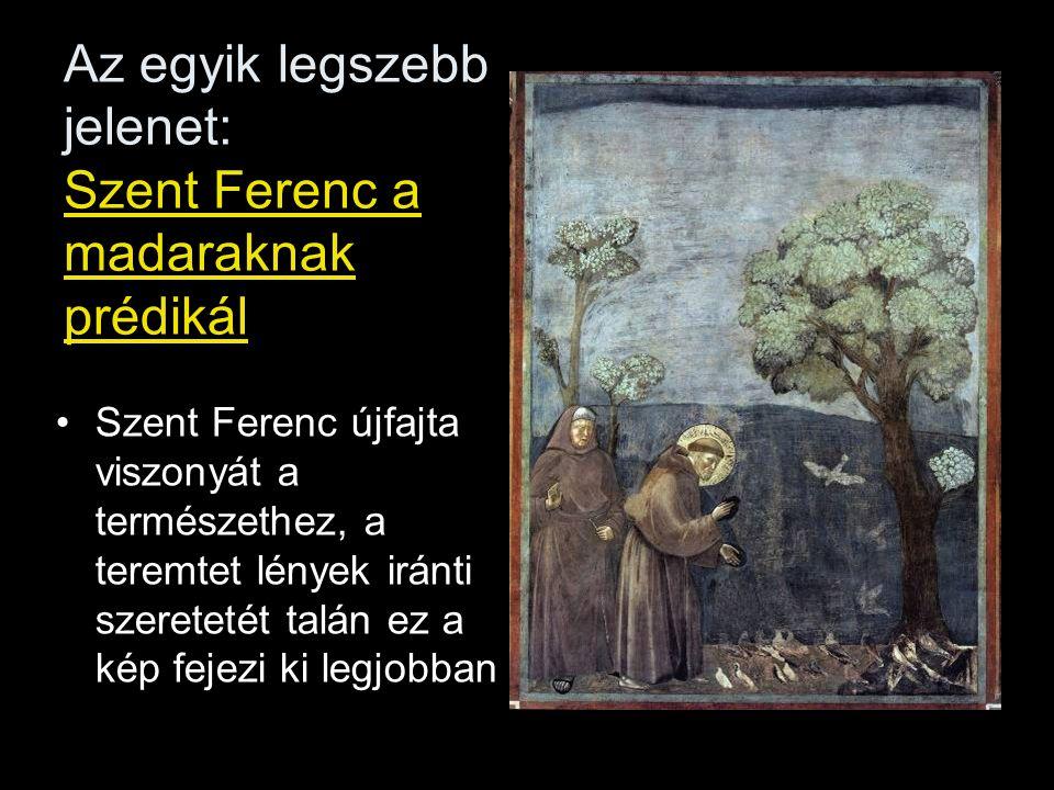Az egyik legszebb jelenet: Szent Ferenc a madaraknak prédikál