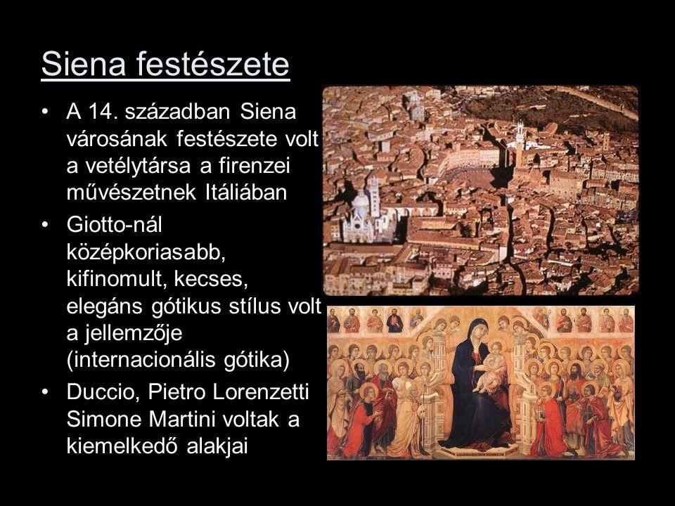 Siena festészete A 14. században Siena városának festészete volt a vetélytársa a firenzei művészetnek Itáliában.