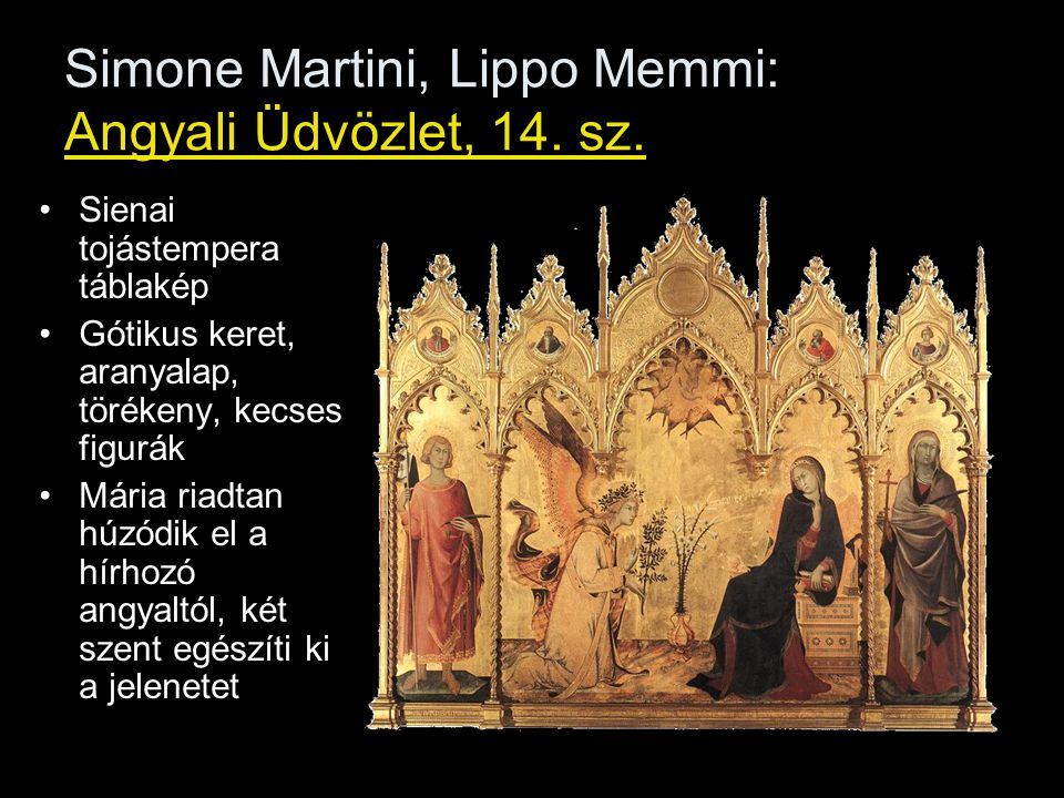 Simone Martini, Lippo Memmi: Angyali Üdvözlet, 14. sz.